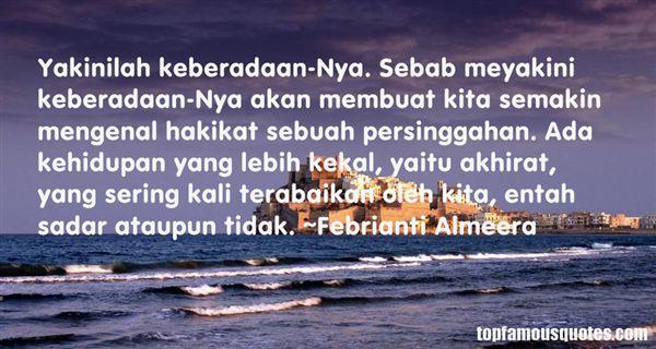 Febrianti Almeera Quotes