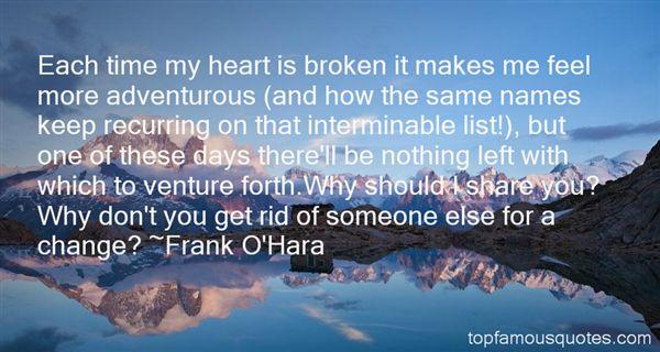 Frank O'Hara Quotes