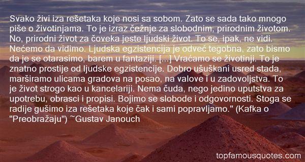 Gustav Janouch Quotes