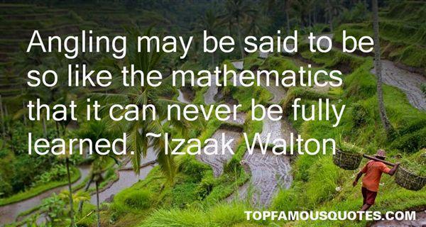 Izaak Walton Quotes