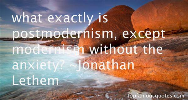 Jonathan Lethem Quotes