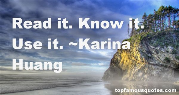 Karina Huang Quotes