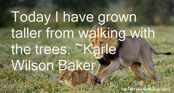 Karle Wilson Baker Quotes