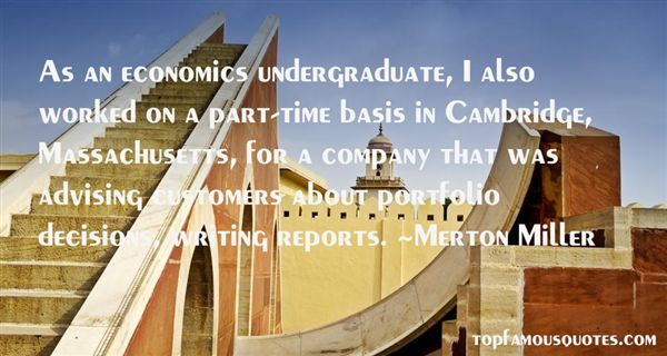 Merton Miller Quotes