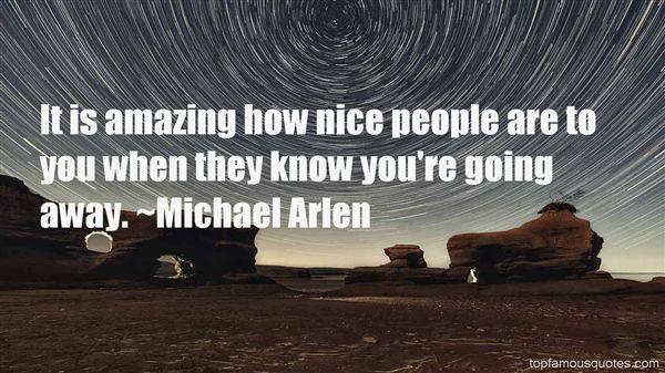 Michael Arlen Quotes