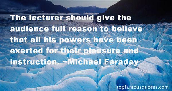 Michael Faraday Quotes