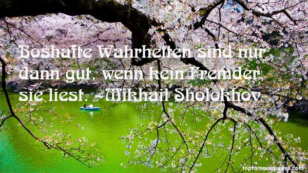 Mikhail Sholokhov Quotes