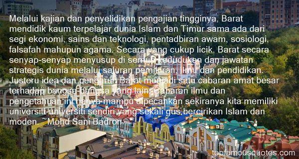 Mohd Sani Badron Quotes