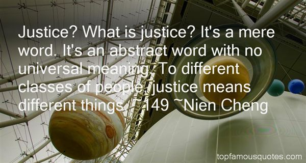 Nien Cheng Quotes