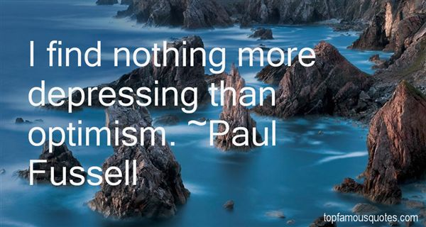Paul Fussell Quotes