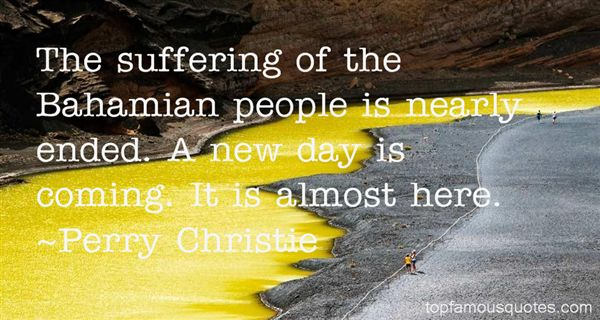 Perry Christie Quotes
