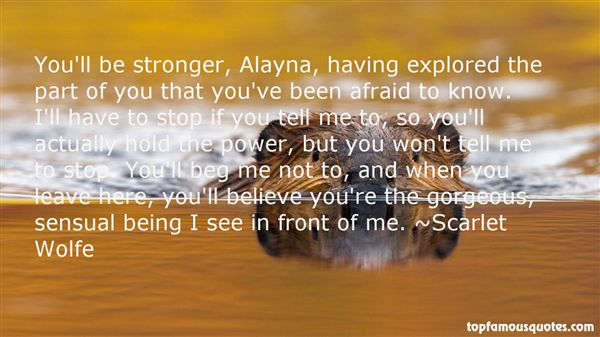 Scarlet Wolfe Quotes