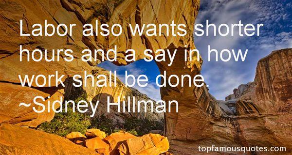 Sidney Hillman Quotes