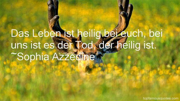 Sophia Azzedine Quotes