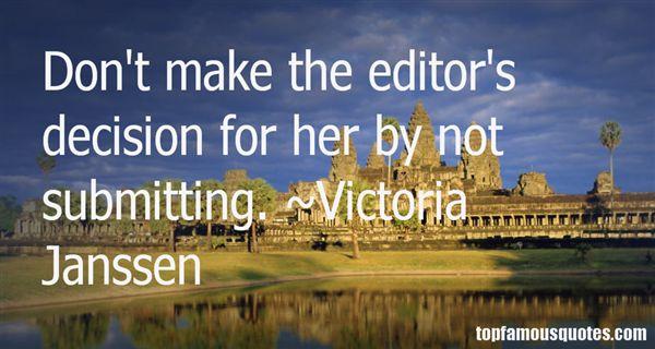 Victoria Janssen Quotes