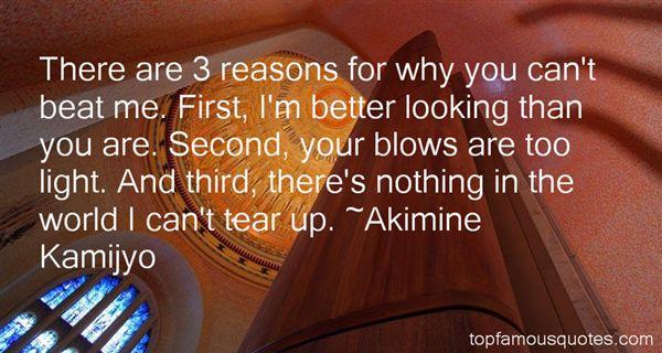 Akimine Kamijyo Quotes