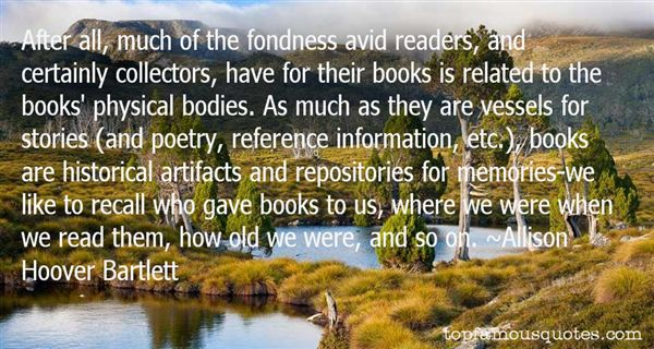 Allison Hoover Bartlett Quotes