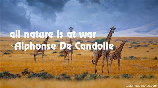 Alphonse De Candolle Quotes
