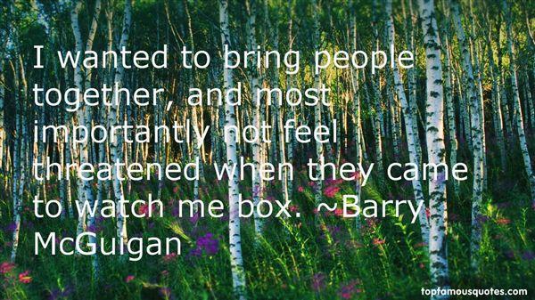 Barry McGuigan Quotes