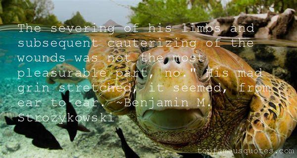 Benjamin M. Strozykowski Quotes