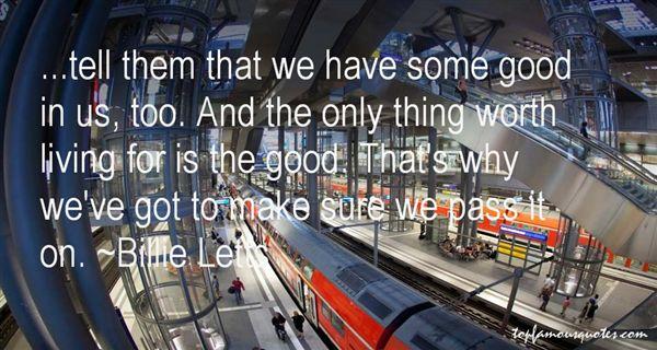 Billie Letts Quotes