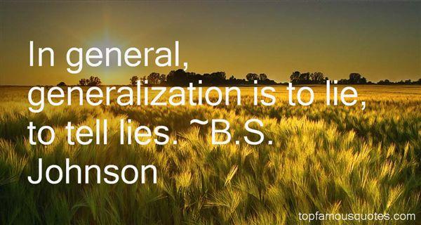 B.S. Johnson Quotes