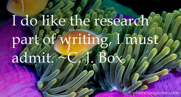 C. J. Box Quotes