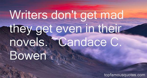 Candace C. Bowen Quotes
