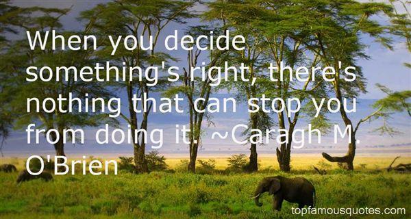 Caragh M. O'Brien Quotes