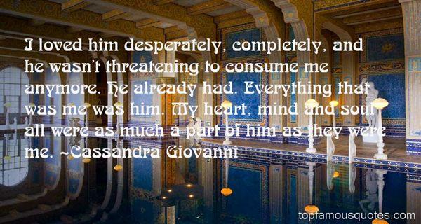Cassandra Giovanni Quotes
