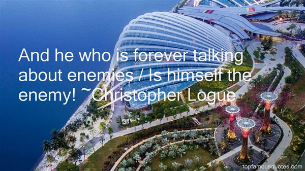 Christopher Logue Quotes