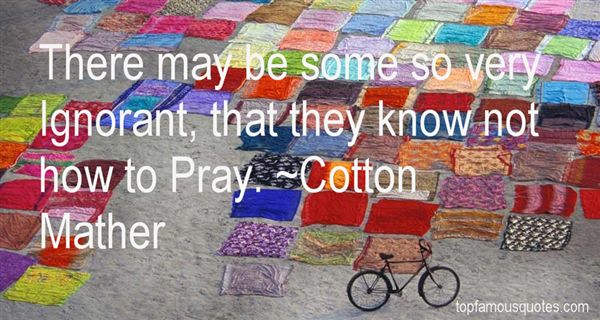 Cotton Mather Quotes