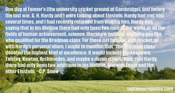 C.P. Snow Quotes