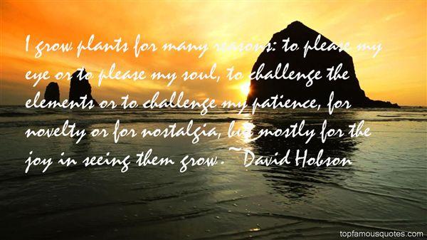 David Hobson Quotes