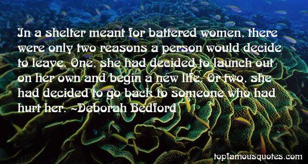 Deborah Bedford Quotes