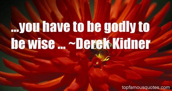 Derek Kidner Quotes