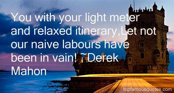 Derek Mahon Quotes
