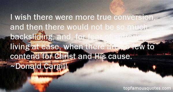 Donald Cargill Quotes