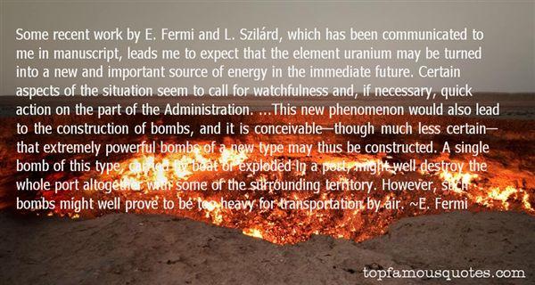 E. Fermi Quotes