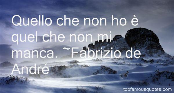 Fabrizio De André Quotes