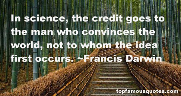 Francis Darwin Quotes