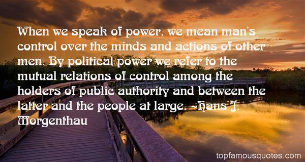 Hans J. Morgenthau Quotes