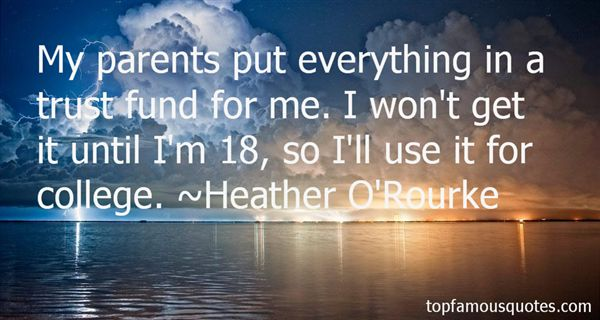 Heather O'Rourke Quotes