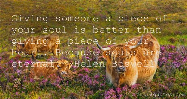 Helen Boswell Quotes