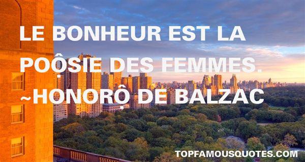 Honoré De Balzac Quotes