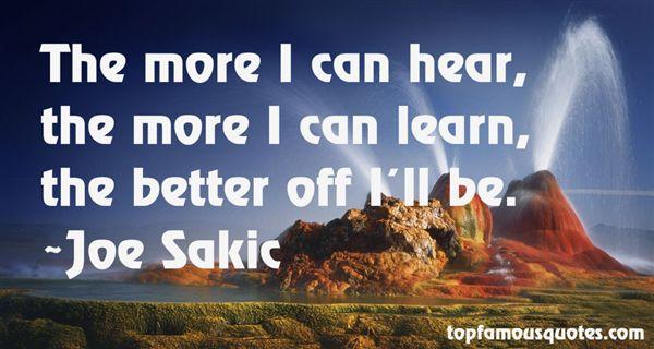 Joe Sakic Quotes