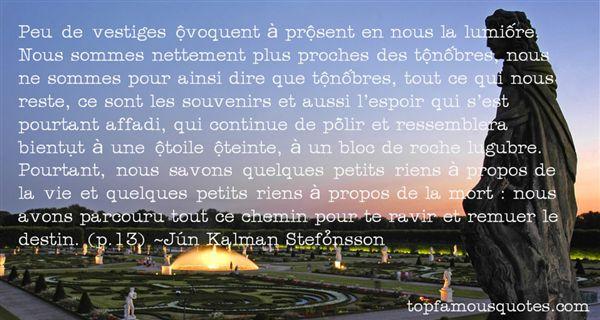 Jón Kalman Stefánsson Quotes