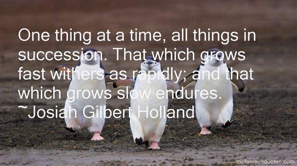Josiah Gilbert Holland Quotes