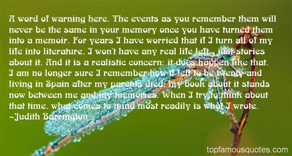 Judith Barrington Quotes