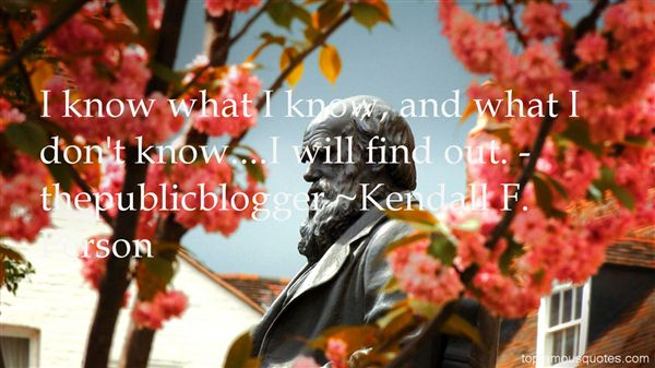 Kendall F. Person Quotes